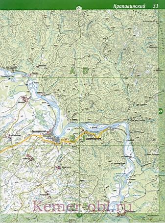 Карта Ижморского Района Кемеровской Области